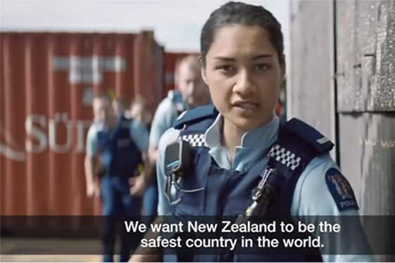 The recruitment film of the police in New Zealand