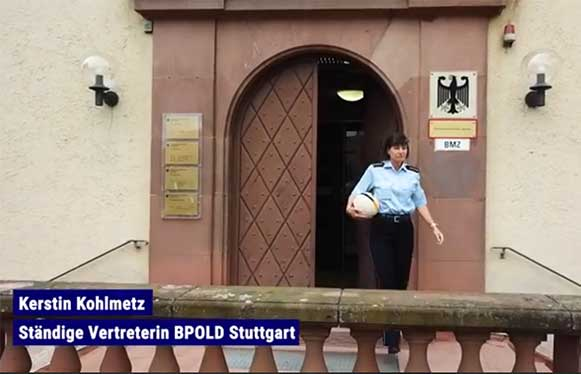The German Police in action